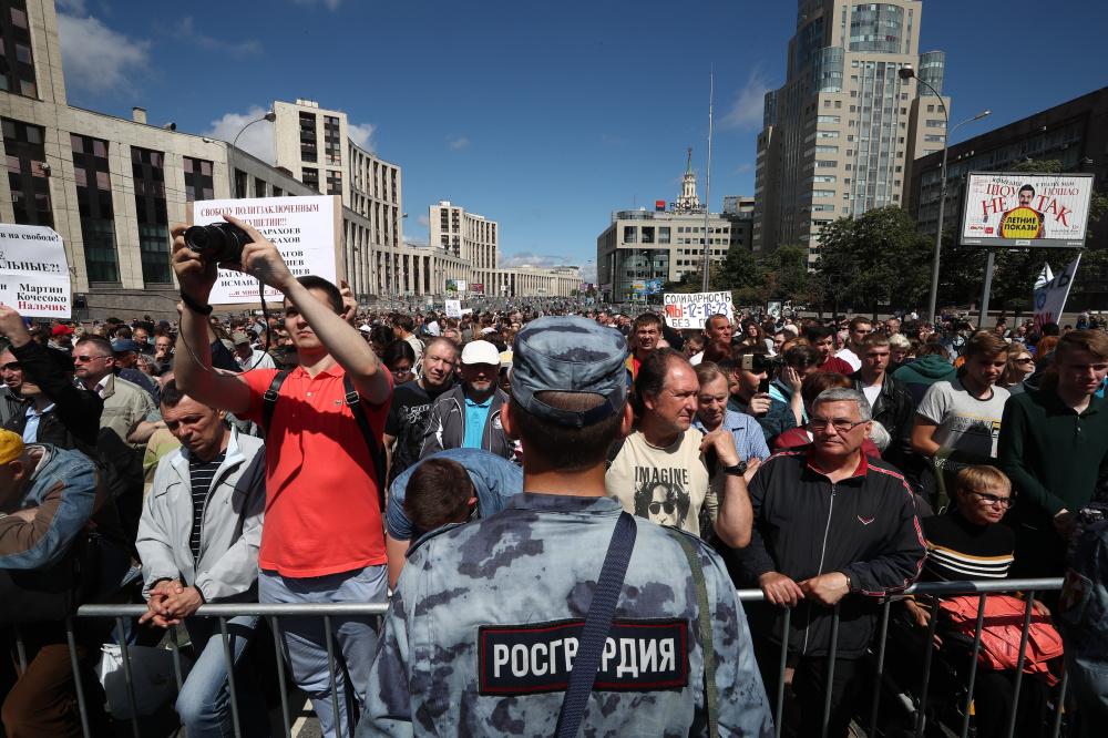 В России опасно присутствовать не демонстрациях